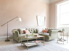 An L-shaped button back corner sofa of dreams. Perfect place to put your feet up and smash down a sofa supper. New Living Room, Living Room Sofa, Home And Living, Living Spaces, Living Area, Corner Sofa Legs, Sofa Design, Interior Design, Sofa Layout