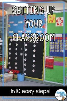 Need help setting up your classroom this next school year? This article explains 10 easy steps on how to set up your classroom. Kindergarten Classroom Setup, Eyfs Classroom, Classroom Calendar, Classroom Procedures, Classroom Organisation, Classroom Walls, First Grade Classroom, Classroom Setting, Classroom Management
