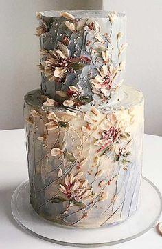 The Prettiest & Unique Wedding Cakes We've Ever Seen - 59 unique wedding cake designs, unique wedding cakes, pretty wedding cake, simple wedding cake ideas - Pretty Wedding Cakes, Unique Wedding Cakes, Wedding Cake Designs, Pretty Cakes, Cute Cakes, Wedding Themes, Wedding Ideas, Wedding Colors, Floral Wedding Cakes