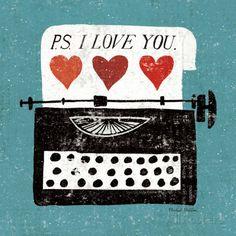 Vintage Desktop: Typewriter Impressão artística