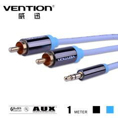 Ice blue âm thanh cáp rca 3.5 mét nam đến nam aux video cáp một điểm kiết già 3.5 mét jack loa dây đối với xe/PC/TV