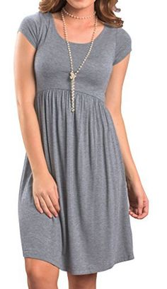New Trending Formal Dresses: Artfish Women Short Sleeve Empire Waist Tunic Dresses (S. Grey). Artfish Women Short Sleeve Empire Waist Tunic Dresses (S. Grey)   Special Offer: $15.99      244 Reviews Declaration: Our tag sizes are ASIAN SIZE, Please check your size with our SIZE CHART before you buy it. Size may be 2cm/1 inch inaccuracy due to HAND MEASURE; Color may be little...
