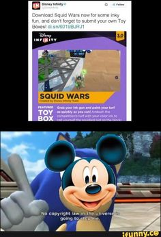 Splatoon--> HILARIOUS, YOU JUST USED SONIC COLORS FOR THIS