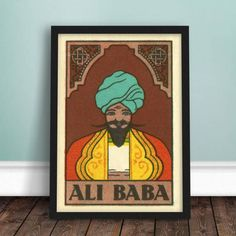 Made in Britain Open Sesame! A lovely, colourful print featuring a highly decorative rendering of Ali Baba from the classic story Ali Baba and the Forty Thieves. This print has a beautiful vintage, textured patina which is enhanced by the heavyweight fine art paper on which it is printed. The print comes to you unframed and is available in both A4 and A3 sizes.  made from:  All Ink & Sons prints are produced on a professional standard 10 colour Giclée printer. They are printed using fade…