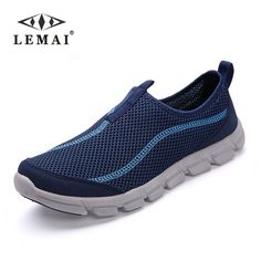 LEMAI 2017 New Men Casual Shoes, Summer Breathable Mesh Zapatillas For Men,Super Light Flats Shoes, Foot Wrapping Big Size