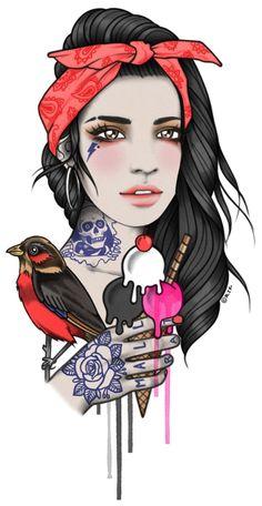 New illustrations and original art work by Rik Lee — Rik Lee Tattoo Illustration, Illustration Sketches, Rik Lee, Jacky Winter, Tattoo Flash Sheet, Dancing Drawings, Stoner Art, Samurai Art, Goth Art