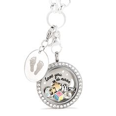 Origami Owl Featured Set - I Love You To The Moon And Back - A mother's love is never-ending - The Perfect Gift for Mother's Day | A mother's love is never-ending. Celebrate her new role as a mom and sweetly capture the moment her love grew by two feet.