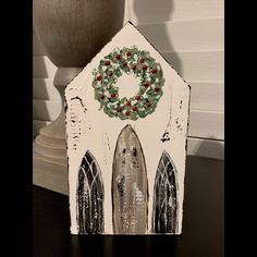 I just have a few of these adorable wood Christmas Chapels❤️ Christmas Wood, Christmas Signs, Handmade Christmas, Christmas Holidays, Christmas Decorations, Christmas Ornaments, Homemade Decorations, Christmas Houses, Xmas