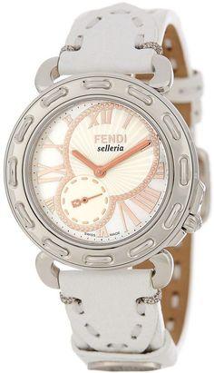 Fendi Women's Mother of Pearl White Watch