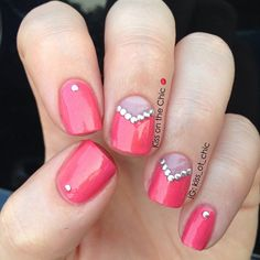 Studded chevrons manicure ===== Check out my Etsy store for some nail art supplies https://www.etsy.com/shop/LaPalomaBoutique