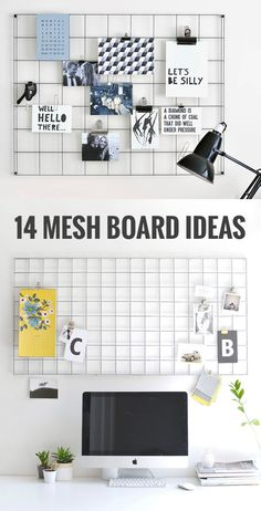 14 mesh board ideas / Memo board ideas / Grid mood board ideas