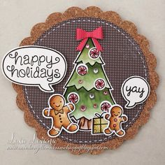 Lawn Fawn - Sweet Christmas + coordinating dies, Critters in the Forest + coordinating dies, A Birdie Told Me + coordinating dies, Winter Gifts, Circle and Scalloped Circle Stackables, Snow Day 6x6 paper _ Ginger bread holidays! by Lexa via Flickr - Photo Sharing!
