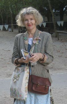 I don't know who this woman is, but what a hip old lady!