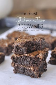 Free Brownies The BEST Gluten Free brownies - no one will know they are gluten free!The BEST Gluten Free brownies - no one will know they are gluten free! Gluten Free Deserts, Gluten Free Sweets, Gluten Free Cakes, Foods With Gluten, Gluten Free Cooking, Dairy Free Recipes, Healthy Recipes, Easy Recipes, Flour Recipes