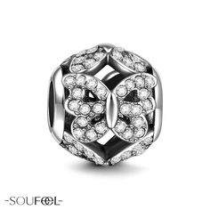 Soufeel Flying Butterfly Charm. You're beautiful just as the blooming flower.