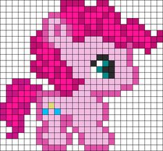 Pinkie Pie perler bead pattern--I don't even like the ponies, but its cute and I know someone to gift it to