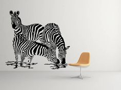 Zebra Stripe Washing Lady Wall Decal Sticker Banksy Style Street - Zebra stripe wall decals