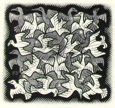 Post Admiring the Op Art Movement during the age of the Millennial. Escher Kunst, Mc Escher Art, Art Optical, Optical Illusions, Escher Tessellations, Drawn Art, Art Database, Dutch Artists, Hanging Wall Art