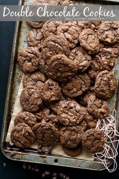 Double Chocolate Cookies from JensFavoriteCookies.com -  They have a little spicy kick to them!
