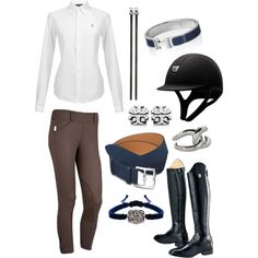 Navy, Brown, & Silver - Polyvore