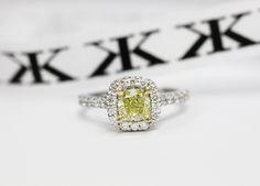 Yellow diamond engagement ring by Kalfin Jewellery #kalfinjewellery #diamondringsmelbourne #diamondjewellery #engagementringsmelbourne #yellowdiamondring #diamondengagementrings #jewellers #custommaderings #gems 3wedding #bride #groom #cbdjewellers #Melbourne #cityjeweller www.kalfin.com.au