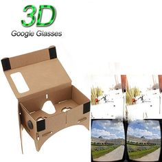 Topbeu Universal Edition DIY Google Cardboard 3D Vr Virtual Reality Glasses * Learn more by visiting the image link.Note:It is affiliate link to Amazon.