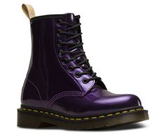 Dr Martens 1460 W Vegan Chrome Dark Purple Boots Source by DocMartensbyKylie marteens Outfits Fashion Doc Martens Stiefel, Botas Dr Martens, Doc Martens Boots, Doc Martens Style, Dr Martens Vegan, Dr Martens Store, Purple Boots, Yellow Heels, Espadrilles Outfit