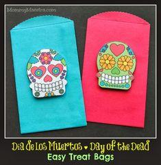 Easy Día de los Muertos Treat Bags {Tutorial}