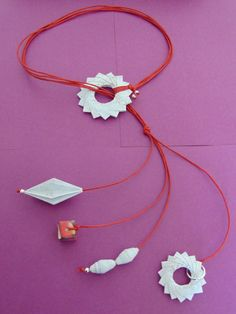 collana ingranaggi origami