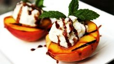 Grilling fruit is a great dessert option during the summer because of the slight caramelization which occurs in the fruit's own natural sugars from PBS Food