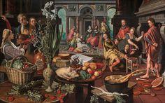 Pieter Aertsen, Cristo en la casa de Marta y María (1553)