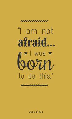 I am nor affraid... - fully editable poster