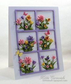 Garden Frame card by Kittie Caracciolo
