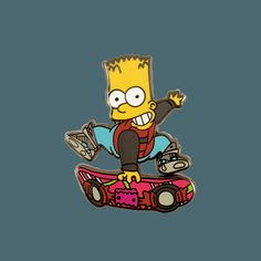 Anyway, here you have Barty McFly-hard enamel pin -approximately tall-rubber clutch -limited to 50 pieces Pin And Patches, Iron On Patches, Marty Mcfly, Cool Pins, Button Badge, Hat Pins, The Simpsons, Lapel Pins, Bart Simpson