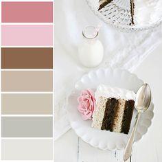 browns, neutrals, pinks