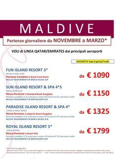 JLAND TRAVEL: MALDIVE DA NOVEMBRE A MARZO !!!