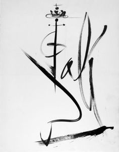 Dali & Gala's name together, created by Salvador Dali;  Love it!