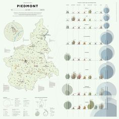 The Analytical Tourism Map of Piedmont Kantar Information is beautiful awards 2014