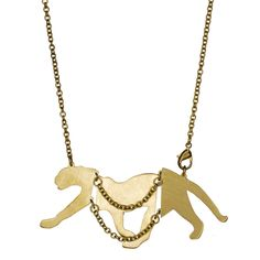 Monserat De Lucca, fashion, jewelry, necklaces, accessories, gold, brass jewelry, animals, panthers