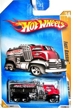 Hot Wheels 2009 Fast Gassin Tanker Truck New Models #14/42 Red/Black/Chrome #HotWheels #HotWheels