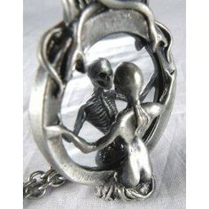 Mirror Lady Death Necklace Gothic Grim Reaper Soul Vamp