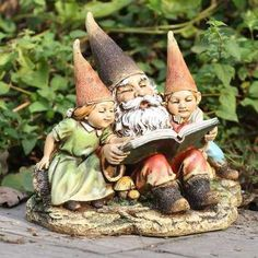 Gnome Children enjoying a fairy story about humans...