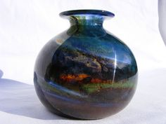 Isle of Wight Studio Glass vase