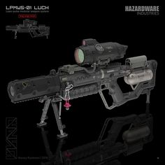 """LPMWS-01 """"LUCH"""". Done for Hexeract design contest. 3ds Max (a little bit of Zbrush and Substance Painter), KeyShot. Just for fun!"""