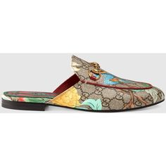 Women'S Gucci Tian Princetown Slipper (2.365 BRL) ❤ liked on Polyvore featuring shoes, slippers and gucci