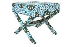 Suzani Stool, Green/Blue on OneKingsLane.com