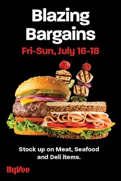 Three days only! Stock up on your favorite meat, seafood, and deli items July 16-18. Perfect for barbecue season! Chicken And Veggie Recipes, Good Burger, Three Days, Recipe Using, Grocery Store, Deli, Barbecue, Seafood, Grilling