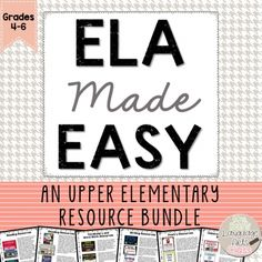 ELA Made Easy: A Language Arts Resource BUNDLE for Grades 4-6