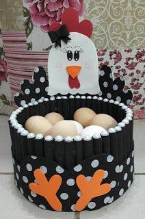 10 Ideas de gallinitas porta huevos para decorar la cocina ~ lodijoella