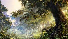 forest scene by ~chibi-oneechan on deviantART